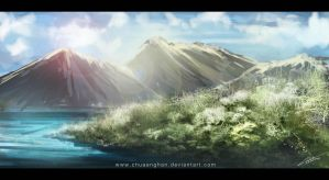 speed paint landscape by chuaenghan