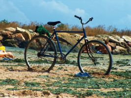 bike sea by Grohai