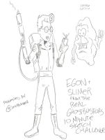 Egon 10 Minute Sketch Challenge by MonkeySquadOne