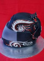Shoei Helmet Cake by Verusca