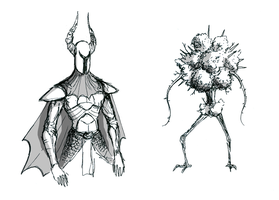 Dark Souls sketches 1 by TheCongressman1