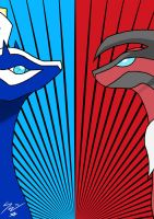Xerneas and Yveltal by ShapeshifterOfWhite
