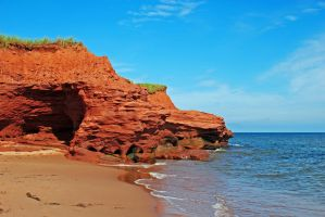 beach and cliffs 2 by LucieG-Stock