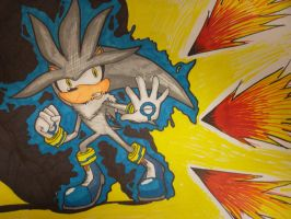 Silver the Hedgehog collab 2 by Nico-Robin09