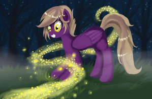 Raita and fireflies by Rubi-one-chan