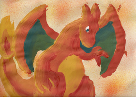 Charizard Painting by LucarioAuraGuardian