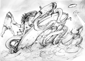 Kraken.Attack by Mr--Jack