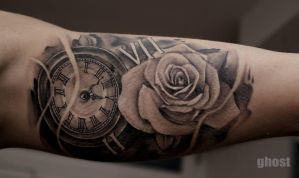watch rose tattoo by mil5