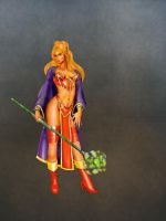 Blood Elf Mage with Staff by dwarfguy
