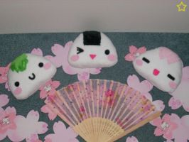 New Onigiri Plushies by LiLMoon