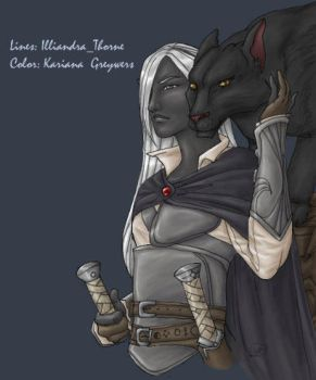 LAJ: Drizzt Do'Urden by kariana