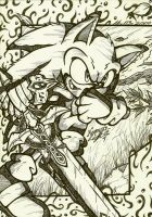 sonic the knight of the wind by I-CyBeR-NeTiCs-I
