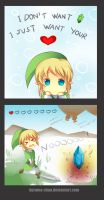 -- Zelda: I just want a heart -- by Kurama-chan