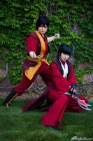 Mai and Zuko by FallingFeathers