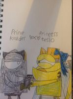 Prince Krader X Princess Teslo by thedrksiren