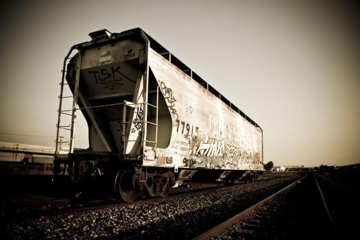 Tagged Train by Mitchell-Manning