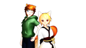 (MMD Newcomer) Kami and Reed by tyanimalgirl