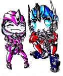 .:EX-PC:. Laurelin and Optimus by Micelux