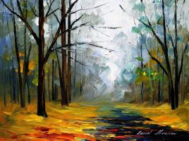 On the way to fog by Leonid Afremov by Leonidafremov