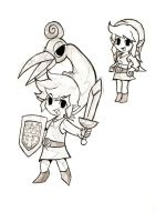 Toon Link Sketching by Creeper-Chick