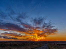 October Sunset From Starmound (5893) by WayneBenedet