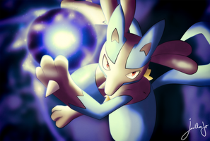 Lucario attack by Jonathanjo