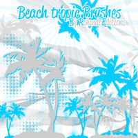 BEACh tROPiC BRUShE$ by RolandoEditions