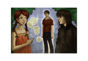 Lily+Severus by Hito76-color by louloudia1983