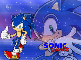 Wallpaper Sonic The Hedgehog by NatouMJSonic