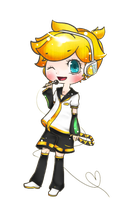 .:Kagamine Len:. Commission example by Yuna264