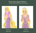 Before and After: Rapunzel by Professor-R