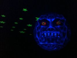 Blacklight Majora's Mask Moon by Dreamparacite