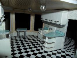 Retro Dollhouse WIP: Kitchen's right side by kayanah
