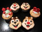 Chip And Dale Cupcakes 2D by Sliceofcake