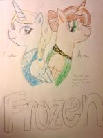 Frozen Anna and Elsa ponies by Blue83dragon