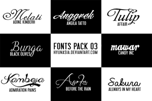 Fonts Pack 03 by hyunasia