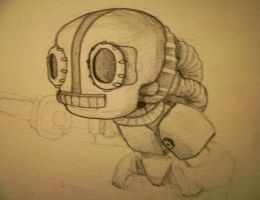 unfinished robot by Tobitoro