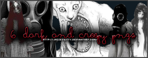 6 Dark and Creepy - PNG Pack by silklungs