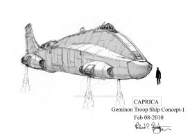 Geminon Troop Ship concept-1 by onthesquare