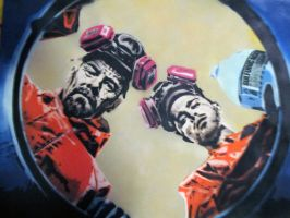 Breaking Bad stencil art - Barrel of Sulfuric Acid by TheStreetCanvas