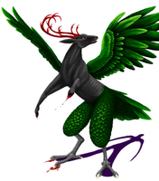 bird contest mythical creature by windbladeicepuppy