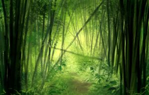 Bamboo Forest_speed paint by Eru17
