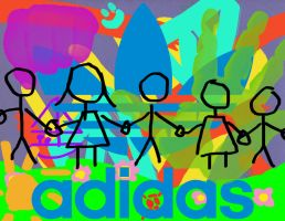 Adidas-shoped-up by LadyKittyKid