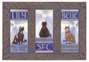 Claire's Cat Triptych by elegaer