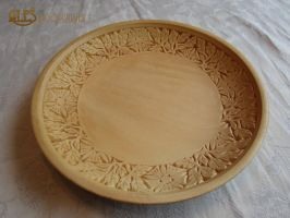 Chip carved basswood bowl by alesthewoodcarver