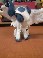 Simplified Mega Absol Plush by Vulpes-Canis