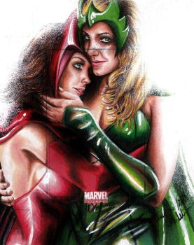 Scarlet Witch And The Enchantress MU2011 AP by Twynsunz