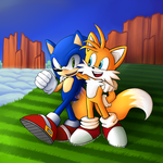 Sonic And Tails Hill Top Zone Collab by Jackers666