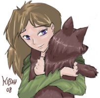 Hug a dog by Kibah