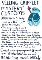 Selling Grifflet Mystery Customs [CLOSED] by fancypigeon
